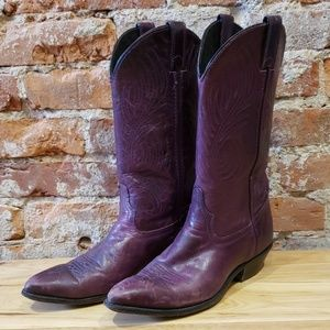 Code West Purple Cowboy Boots
